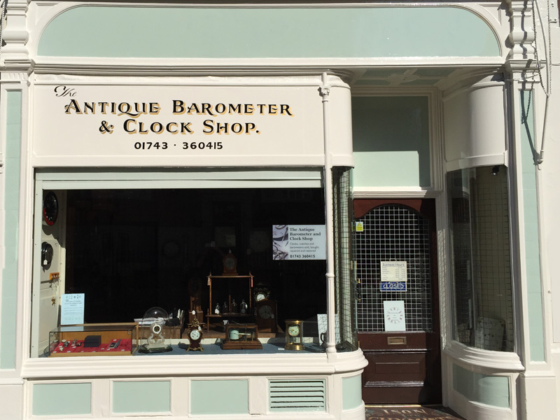 Anique Barometer & Clock Shop Shrewsbury Shropshire